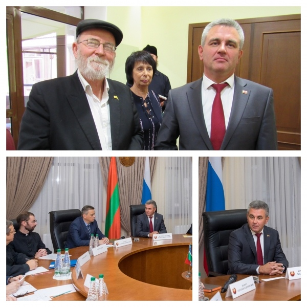 Summit-Tiraspol - Chief Rabbi with the President of the PMR