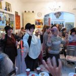 "Tu Bishvat and ""Hafrashat Challah"" in the Art Café for the Kishinev Women"
