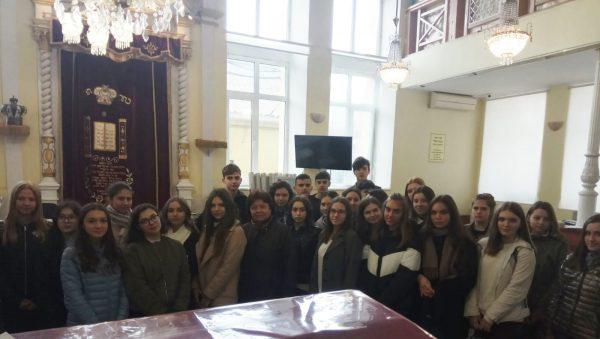 Группа учащихся лицея «Гаудеамус» из 34 человек пришли сегодня к нам в синагогу