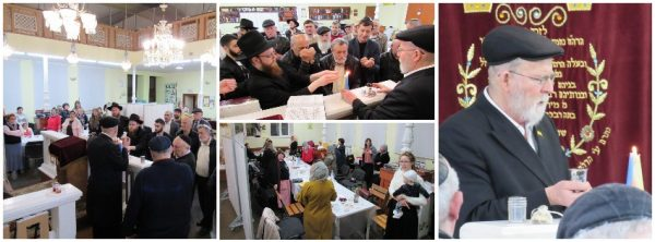 """התעוררות לגאולה בסעודת משיח בבית הכנסת חב""""ד בקישינב"""