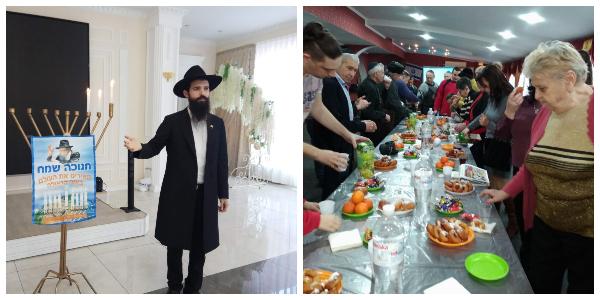 Chanukah celebration in Bender and Beltsy