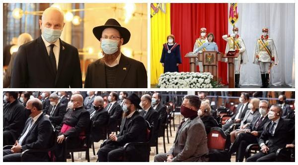 Chabad Shliach Invited to Inauguration of Moldova's New President
